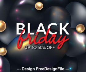 Black friday up to 50% off poster design vector