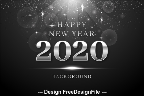 Black glitter background 2020 christmas new year vector