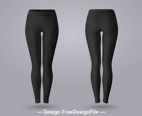 Black leggings vector