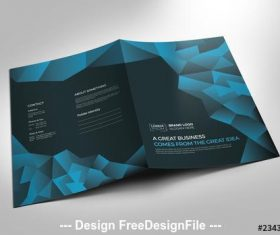 Blue and black presentation folder vector
