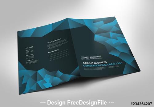 Blue and black presentation folder vector