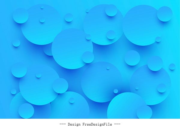 Blue circle 3d abstract background vector