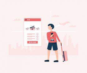 Booking ticket illustration vector