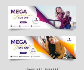 Brand banner brochure vector