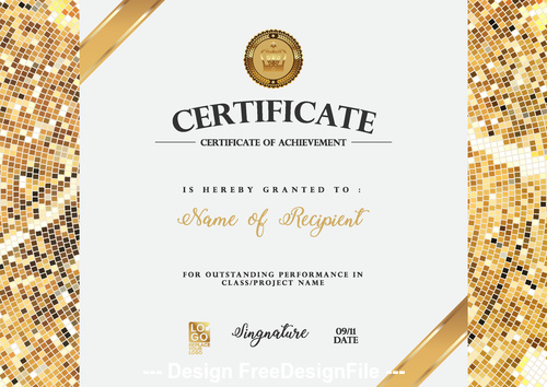 Brand certifIcate vector