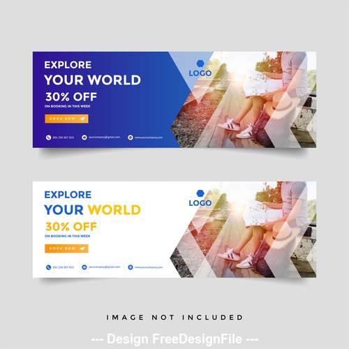 Brand sale banner brochure vector