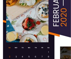 Breakfast gourmet 2020 calendar vector