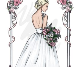 Bride wedding vector
