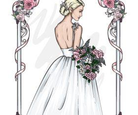 Bride wedding vector