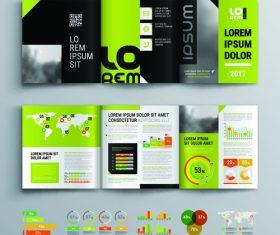 Brochure leaflet template design information vector