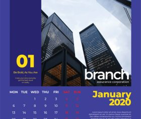 Building cover calendar 2020 vector
