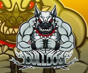 Bull dog logo design vector