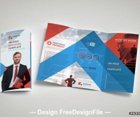 Business brochure layout vector