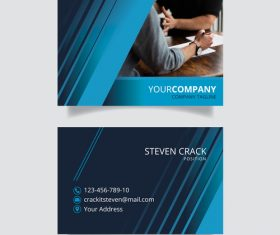 Business card template page design vector