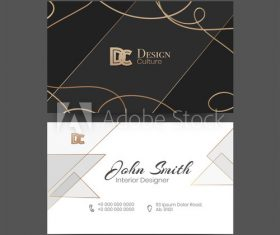 Business cards design vector