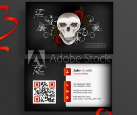 Business cards for tatoo design vector