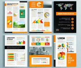 Business flyer template design information vector