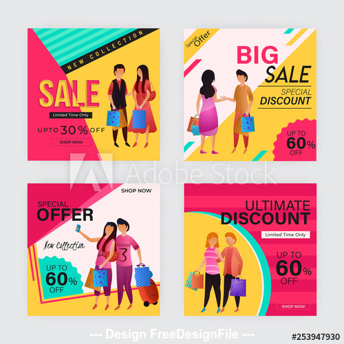 Business holiday discount sale template vector