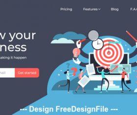 Business plan flat illustration vector