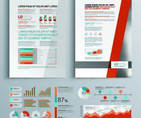 Business template design information vector