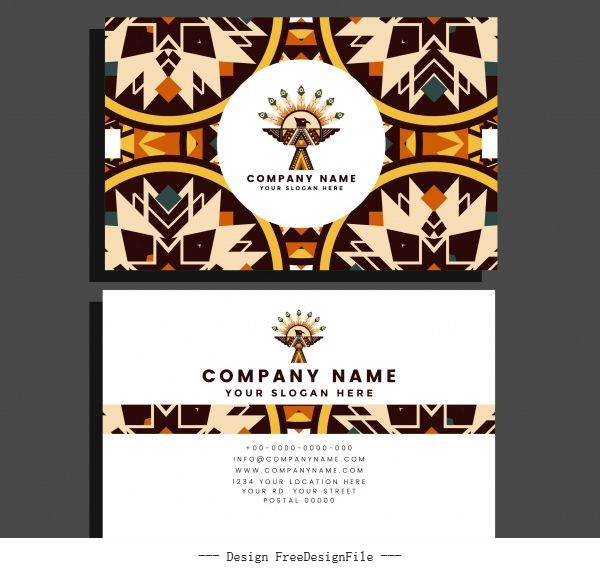 Business brochure template abstract ethnic vector