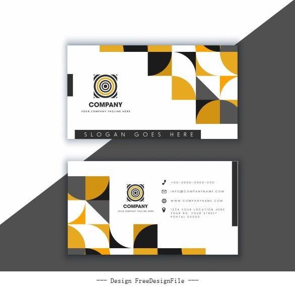 Business card template bright modern geometric abstract vector