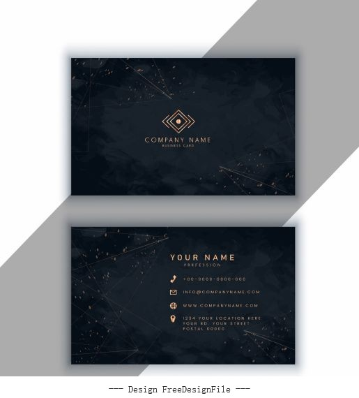 Business card template luxury dark sparkling vector