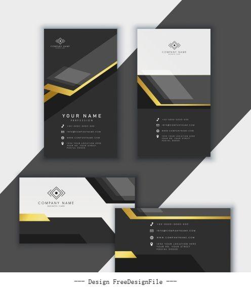 Business card template luxury modern black white vector