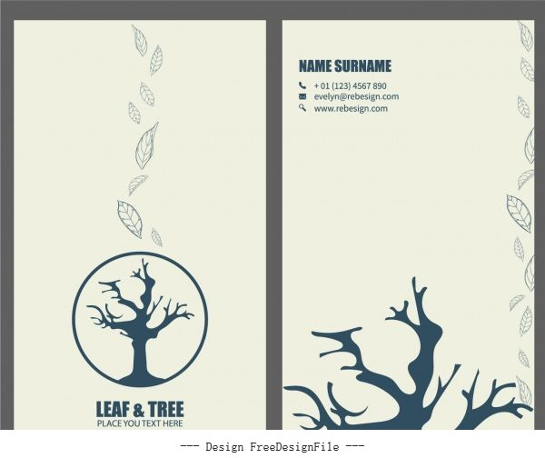Business card template environment damage theme vector