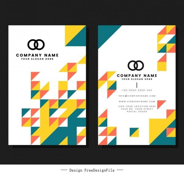 Business card template modern abstract geometric vector