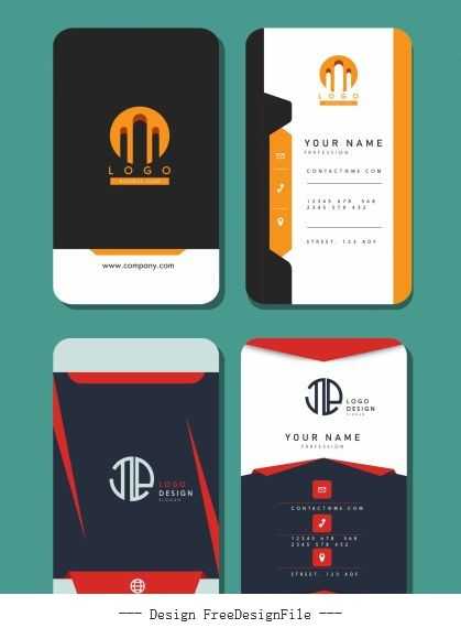 Business card templates vertical vector
