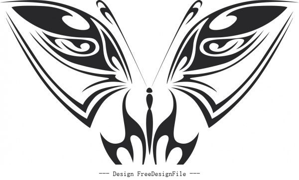 Butterfly art free vector set