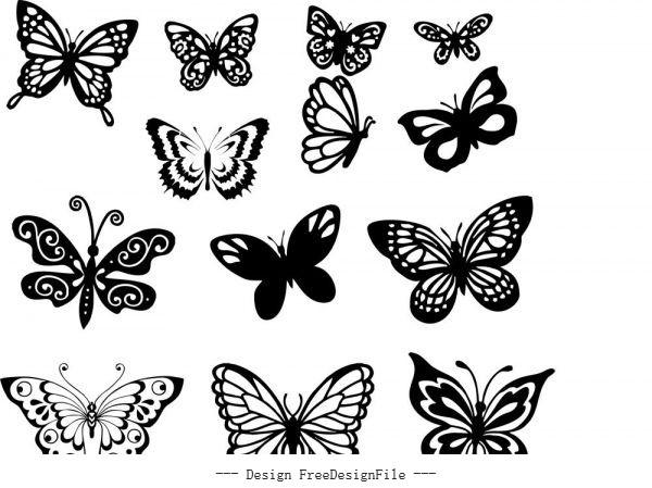 Butterfly set free cdrs art vector