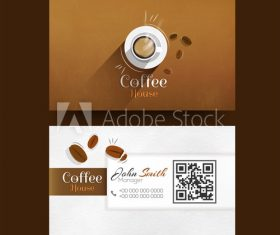 Cafe business card design vector