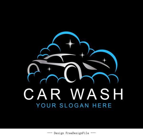Car wash logo template vector