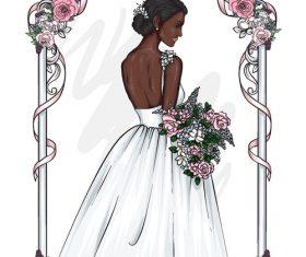 Cartoon Bride wedding vector