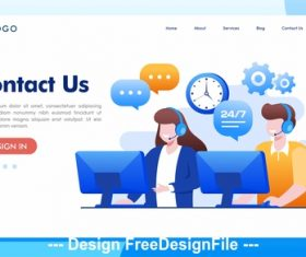 Cartoon illustration business internet technology vector