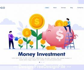 Cartoon illustration money investment vector