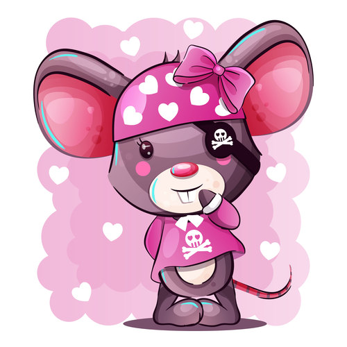 Cartoon pirate rat vector