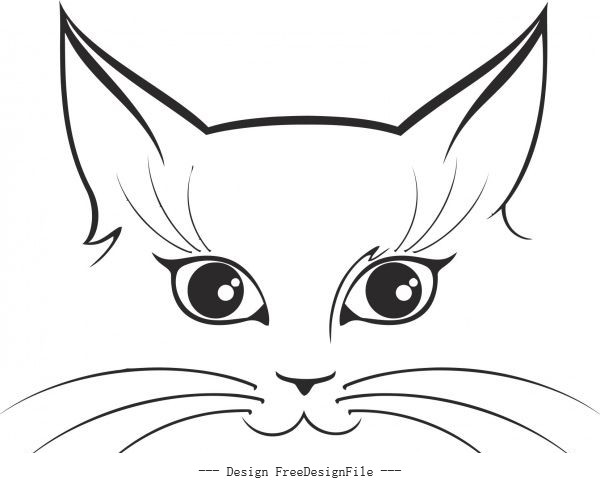 Cat sticker free cdrs art vector