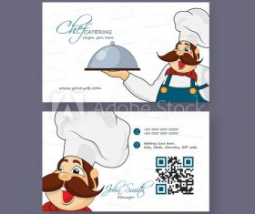 Chef business card design vector