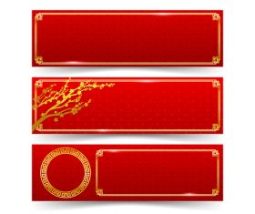 Chinese art element banner vector