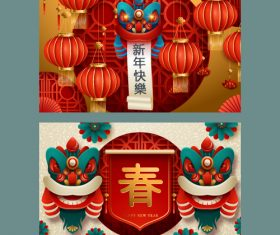 Chinese new year banner vector 03