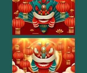 Chinese new year banner vector 04