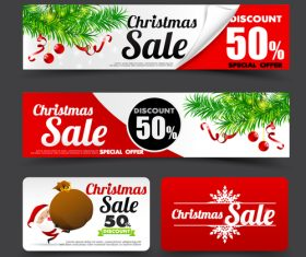 Christmas New Year promotion style vector