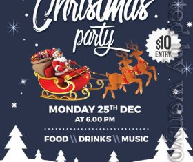 Christmas Party Poster and Flyer PSD Template