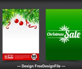 Christmas background sale banner vector