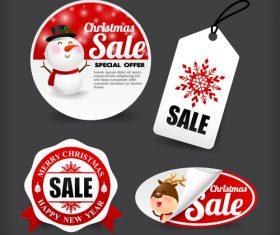Christmas banner promotion sale discount style vector illustration