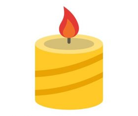 Christmas candle Icons vector