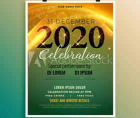Christmas celebration cover flyer template design vector
